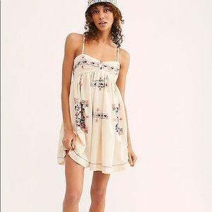 Free People XS Kaleidoscope Cool Mini Dress Ivory